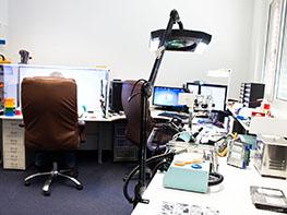 Daternettung Reinraumlabor